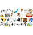 set music instrument vector image