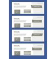 set of facebook timeline covers vector image