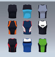 set of sleeveless shirts vector image