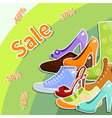 shoes sale vector image vector image