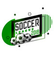 soccer league tournament banner design vector image vector image