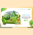 street yoga landing page website template vector image