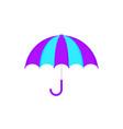 summer purple umbrella icon vector image vector image