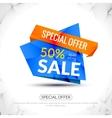 Super Big Sale paper origami banner Sale vector image