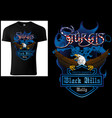 t-shirt design sturgis with bald eagle vector image vector image