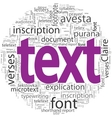 text concept in word tag cloud isolated vector image vector image