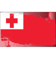 tonga national flag vector image vector image