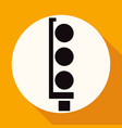 traffic lights icon on white circle with a long vector image vector image
