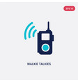 two color walkie talkies icon from outdoor vector image vector image