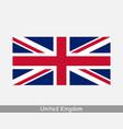 united kingdom uk british country flag union jack vector image