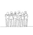 unity in diversity concept one single line vector image