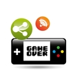 video game connection share icon design vector image vector image