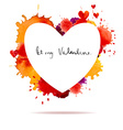 Watercolor colorful blot and heart frame vector image vector image