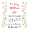 wedding day ceremony alphabet text celebration vector image vector image