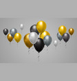 yellow grey and black balloons background for web vector image