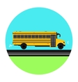 Yellow School bus on the road vector image vector image
