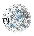 zodiac signes virgo vector image vector image