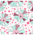 funny sun in patchwork style pattern vector image