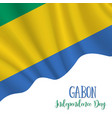 17 august gabon independence day background vector image