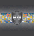 5g network symbol on a technology background vector image vector image