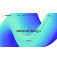 abstract design templates with 3d flow shapes vector image vector image