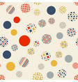 abstract geometric seamless pattern circles vector image vector image