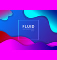 abstract liquid wavy geometric dynamic 3d vector image vector image