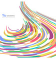 abstract of colorful stripe line pattern mesh vector image vector image