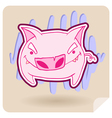 angry pig vector image vector image