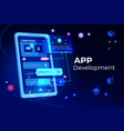 app development adaptive layout application banner vector image