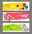 Artistic Horizontal Banners Set vector image vector image