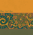 background with color strips and floral pattern vector image