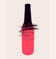 beer bottle typographical vintage grunge poster vector image vector image
