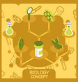 biology color concept isometric icons vector image