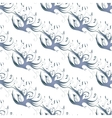 Blue birds seamless background vector image vector image