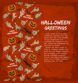 card with halloween greetings vector image