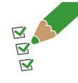 checklist symbol with pencil vector image