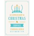 Christmas Candlelight Service Church Invitation vector image vector image