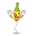 clown yellow balloon isolated on for mascot vector image