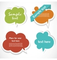 Colorful speech bubbles vector image