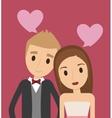 couple cartoon wedding marriage icon vector image vector image