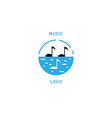 Creative musical logo double meaning vector image vector image