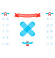 cross adhesive bandage medical plaster icon vector image