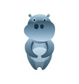 cute hippo stylized geometric animal low poly vector image