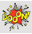 doon doo-o-n halftone circle on transparent vector image vector image