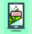 electronic commerce marketing icon vector image