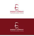 energy logo design vector image vector image