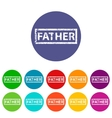Father flat icon vector image vector image