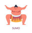 fighting art sumo japanese combat isolated male vector image