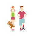 flat boy and girl character set isolated vector image vector image
